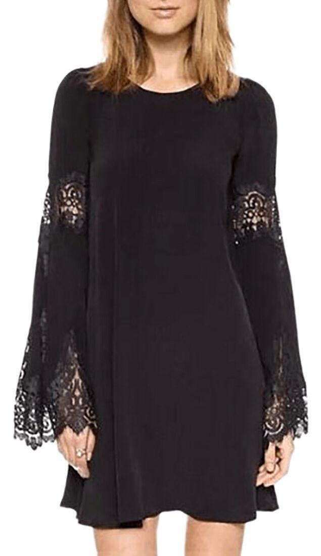 Women's dress long sleeves women's dress casual suit detail lace