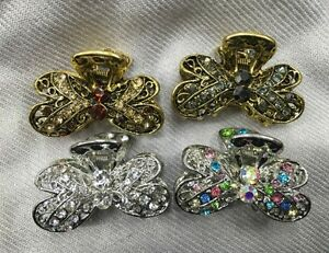 New-Sparkling-metal-rhinestone-choice-of-your-color-hair-jaw-clip-1-jan17