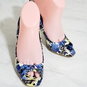 BCBG-Generation-Shoes-Heels-Peep-Toe-Floral-SHINY-PATENT-PEEP-Womens-Size-7B-37