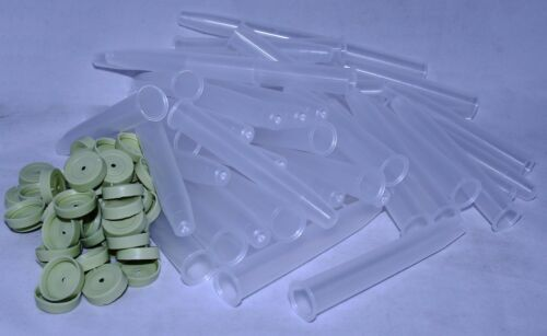 for Fresh Stems in Water Mini Plastic Flower Tubes and Caps 11cms 16cc