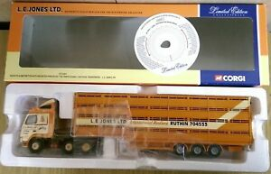 Corgi-CC12424-Volvo-FH-Globetrotter-Livestock-L-E-Jones-Ltd-Ed-No-0002-of-3900