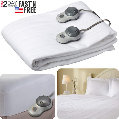 Sunbeam Slumber Rest Quilted Electric Heated Mattress Pad White G9