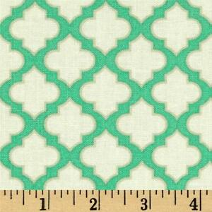 Trellis Turquoise Up Parasol Freespirit Heather Bailey Green
