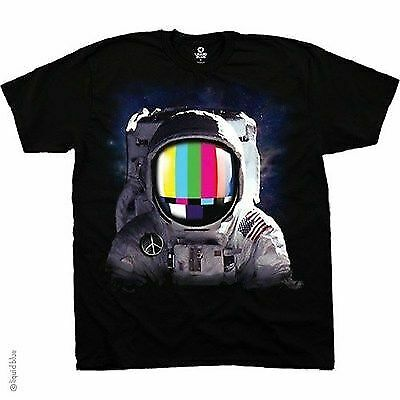 SPACE STATION MAN SOLAR SYSTEM GALAXY PLANETS FANTASY COLORFUL T TEE SHIRT S-2XL
