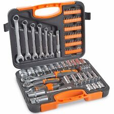 VonHaus 104 Piece Socket Set, Wrench Kit & Ratchet Driver With Case