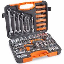 VonHaus 104 Piece Socket Set, Wrench Kit & Ratchet Driver With Case
