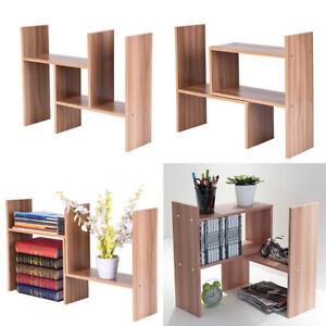 Wood Book Shelf L Shaped Corner Desk