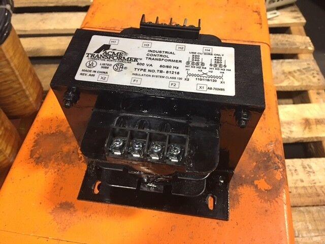 Acme Industriel Contrôle Transformateur,Tb-81215,500 Transformateur,Tb-81215,500 Transformateur,Tb-81215,500 VA,230-460 To 115v,Utilisé 0eebc3