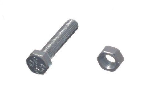Confezione da 4 x M5 Set Bulloni hex PIN ZP 5MM x 25MM e dadi