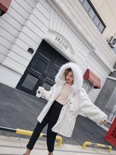 Confortable Duvet À 1356 Capuche Élégant Parka Chaud Femme Slim Blanc Veste x8Apq4T