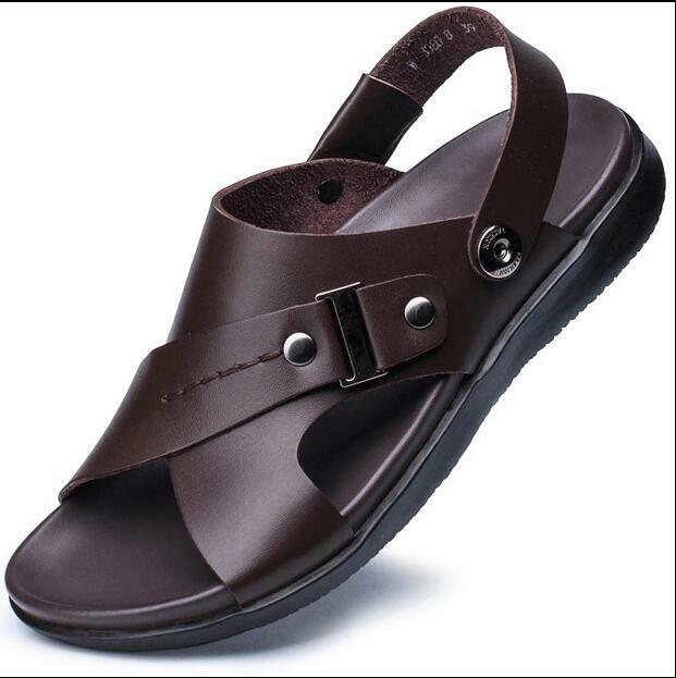 Casual Mens Slip On Sandals Loafer Cool BeachTrendy Roman Summer shoes Casual