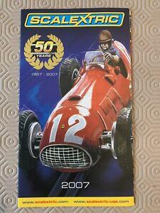 Scalextric RACE FOR REAL 50 anni catalogo pieghevole illustrativo 2007 Nuovo di Zecca