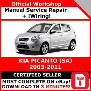factory workshop service repair manual kia picanto sa 2003 2011 ebay rh ebay co uk kia picanto 2008 service manual kia picanto service manual