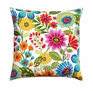 orange yellow pink floral outdoor pillow gregoire prima colorful