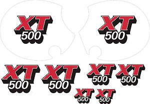 Details Zu Aufkleber Yamaha Xt 500 Tank Seitenteil Xt500 Rot