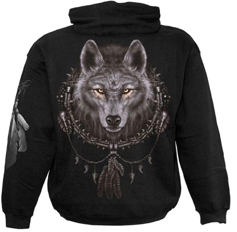 Spiral Wolf Dreams Hoodie Kapuzen Sweat Shirt Top Wolff Wildnis Nature  3221 414