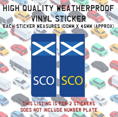 2 Ocs SCOTLAND St Andrews Drapeau plaque d/'immatriculation Vinyle Autocollant UK Stick N008