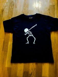 5a82ef86206 Image is loading Kids-Dabbing-Skeleton-T-shirt-halloween-tee-family-
