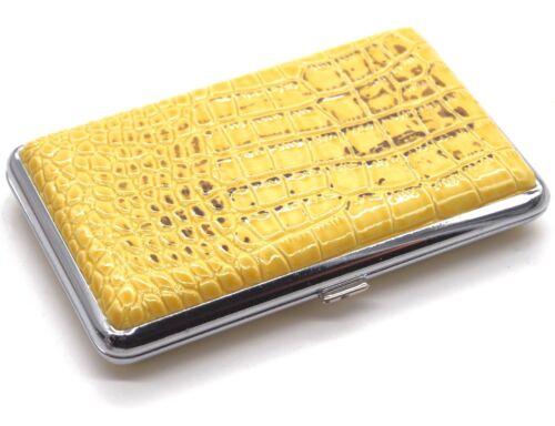 Porte cartes rigide aspect croco Idéal cartes de fidélité femmes