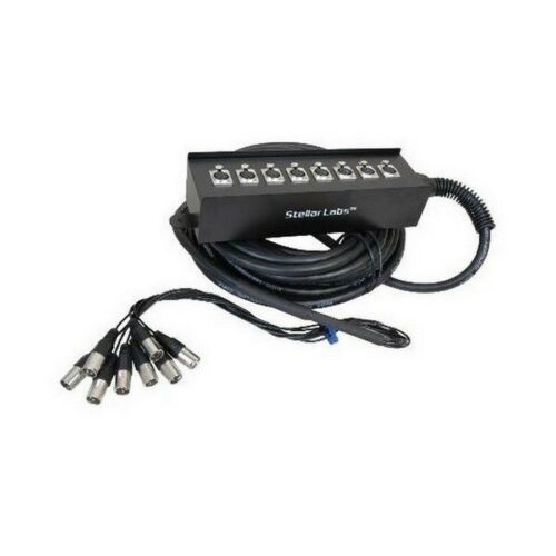 Stellar Labs 555-13861 8 Channel Cable Snake-98/' 3-Pin Xlr Connectors