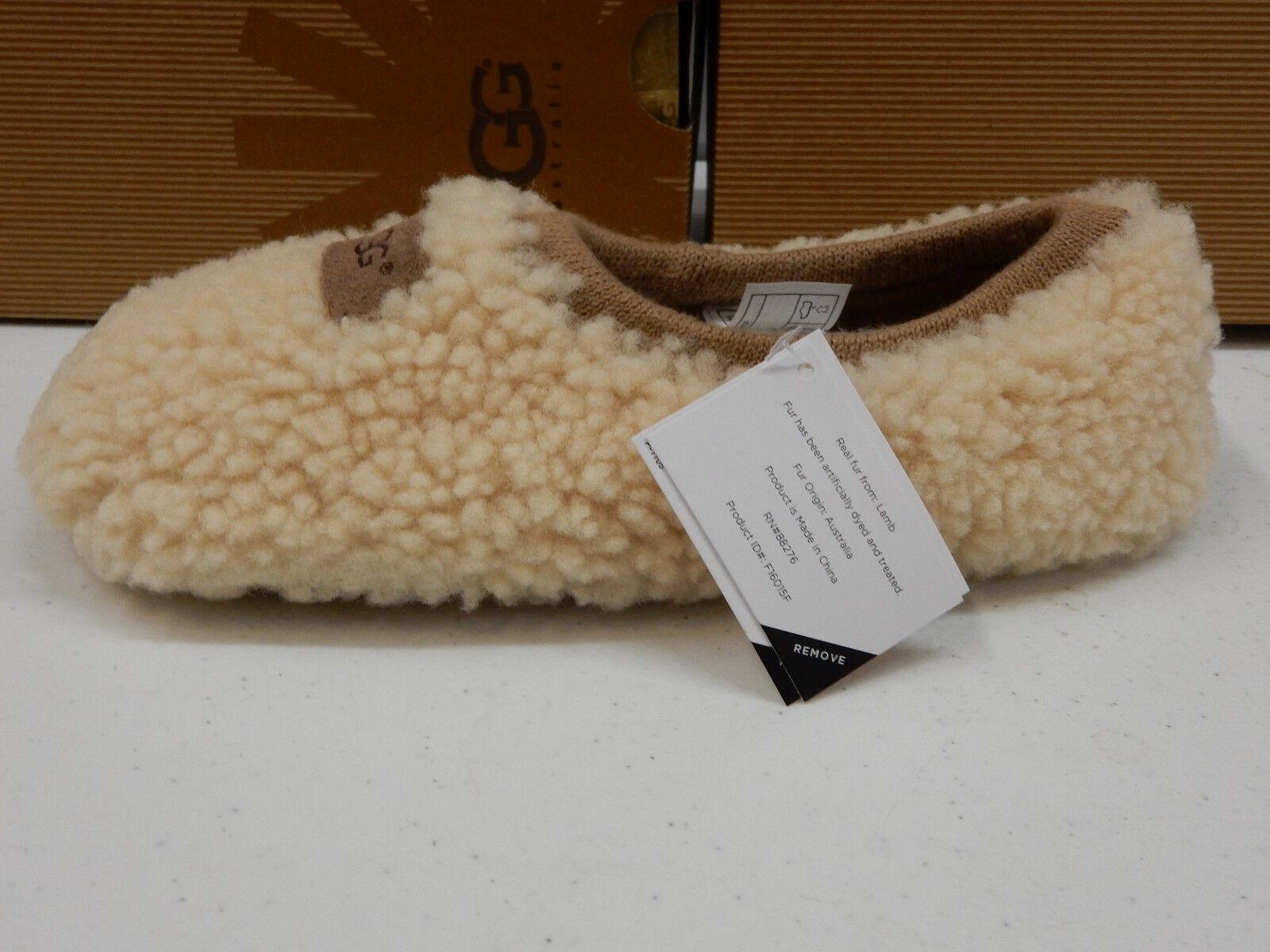 e8ababd5b3c Womens UGG Birche Natural Sheepskin Jersey Lined Slippers 1007721 10