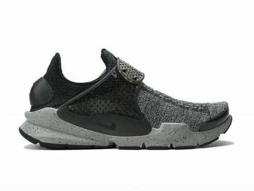 SZ 8 Men's Nike Sock Dart SE Premium Gray Black 859553-001 Running Training