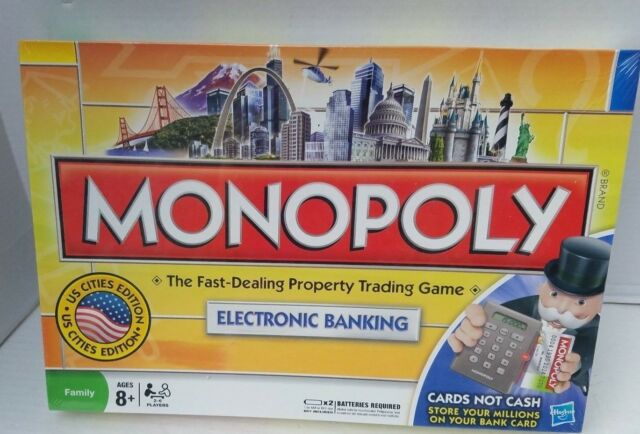 Monopoly Electronic Banking Us Cities Edition 2008 Hasbro Ebay