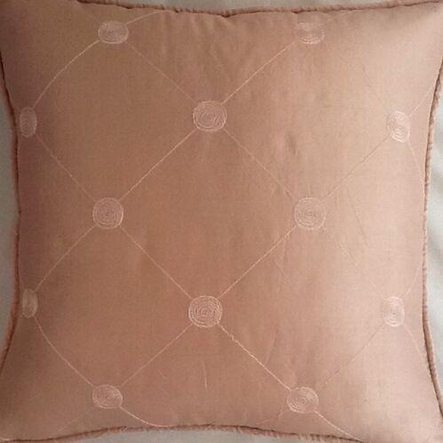 A 40.6cm Kissen Auflage in Laura Ashley Lucille Seide Kreide pink Stoff