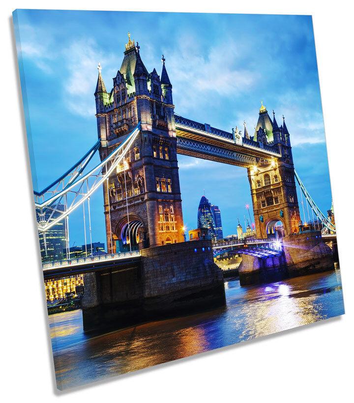 London Tower Bridge City SQUARE BOX FRAMED FRAMED FRAMED CANVAS ART Print 317a79