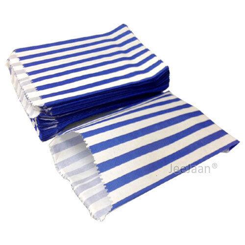 "Candy Stripe de bolsas de papel dulce favor Buffet Tienda De Regalos Fiesta Dulces Cake 7/""x9/"""