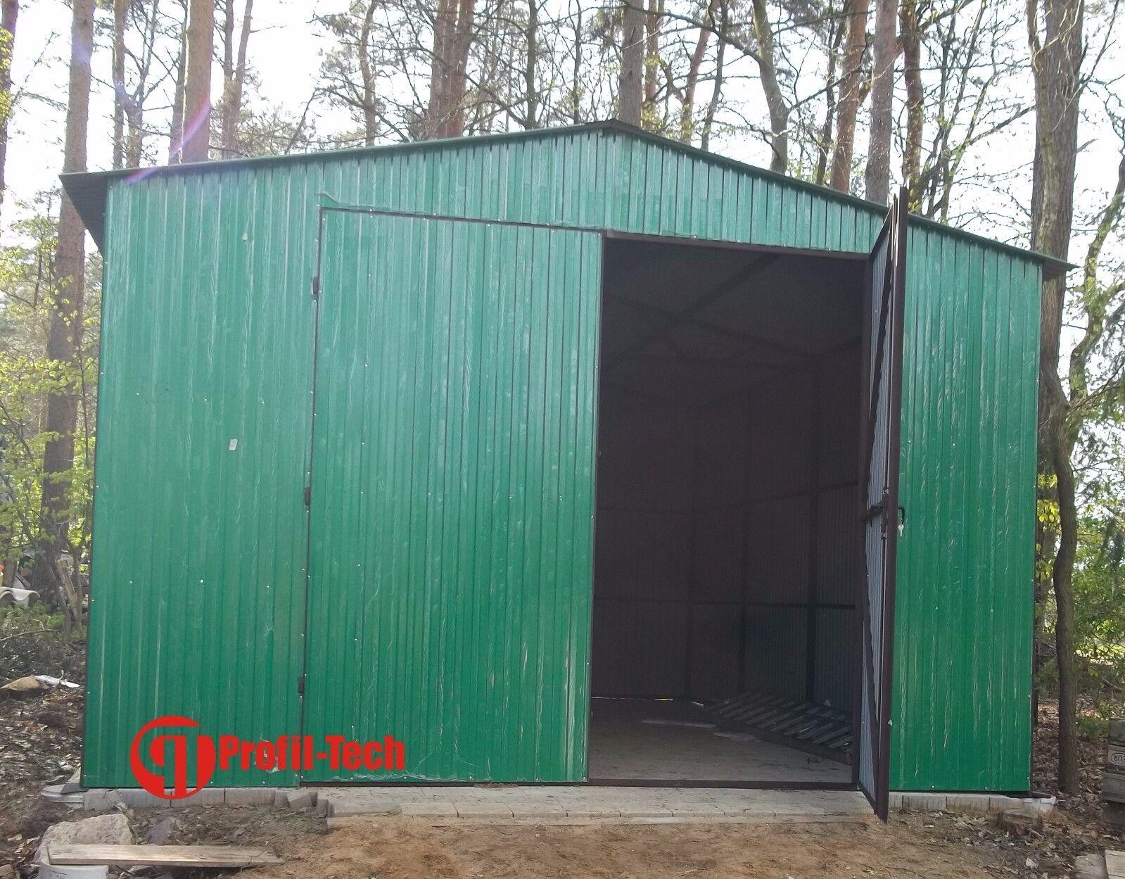 Blechgarage Fertiggarage Metallgarage LAGERRAUM GERÄTESCHUPPEN garage 6,0X5,5