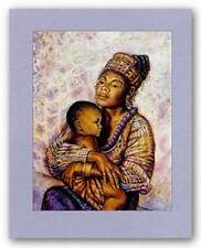 AFRICAN AMERICAN ART PRINT Mother Jonnie K C Chardonn