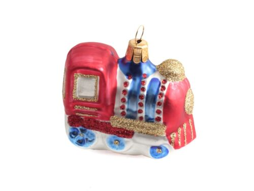 Choose green or blue Details about  /1 Czech glass train Christmas tree ornament decoration