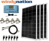 100 - 400 Watt Solar Panel Kit W/ Lcd Charge Controller 12/24v Rv Boat Off Grid