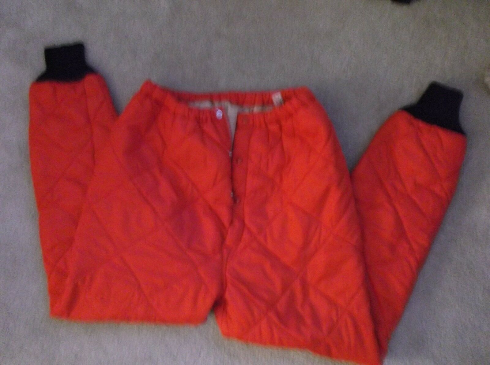 Vintage Marshall GameMaster rosso Quilted Hunting Down Snow Pants Uomo Sz Medium M