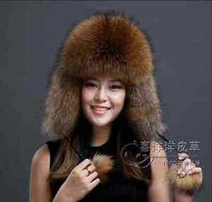 305330a96 Details about REAL FUR Luxury Women's Russian Full Fur Shapka Ushanka Hat  Pelt Winter New D362