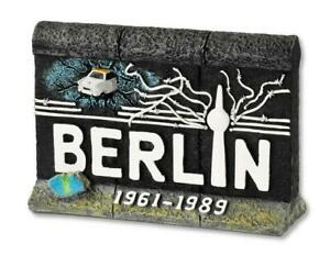 Berlin-Mauer-mit-Trabi-Funkturm-Fertig-Poly-Modell-10-cm-Souvenir-Germany
