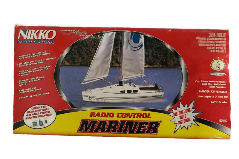 Rare 1999 Nikko Mariner Sailboat Model 19040BC RC Sail Boat Discontinued