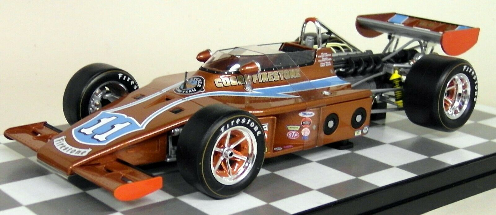Carousel 1 1 18 Scale 4703 AAR Eagle 1974 1974 1974 Indianapolis 500 Cobre Firestone Eagle b97c46