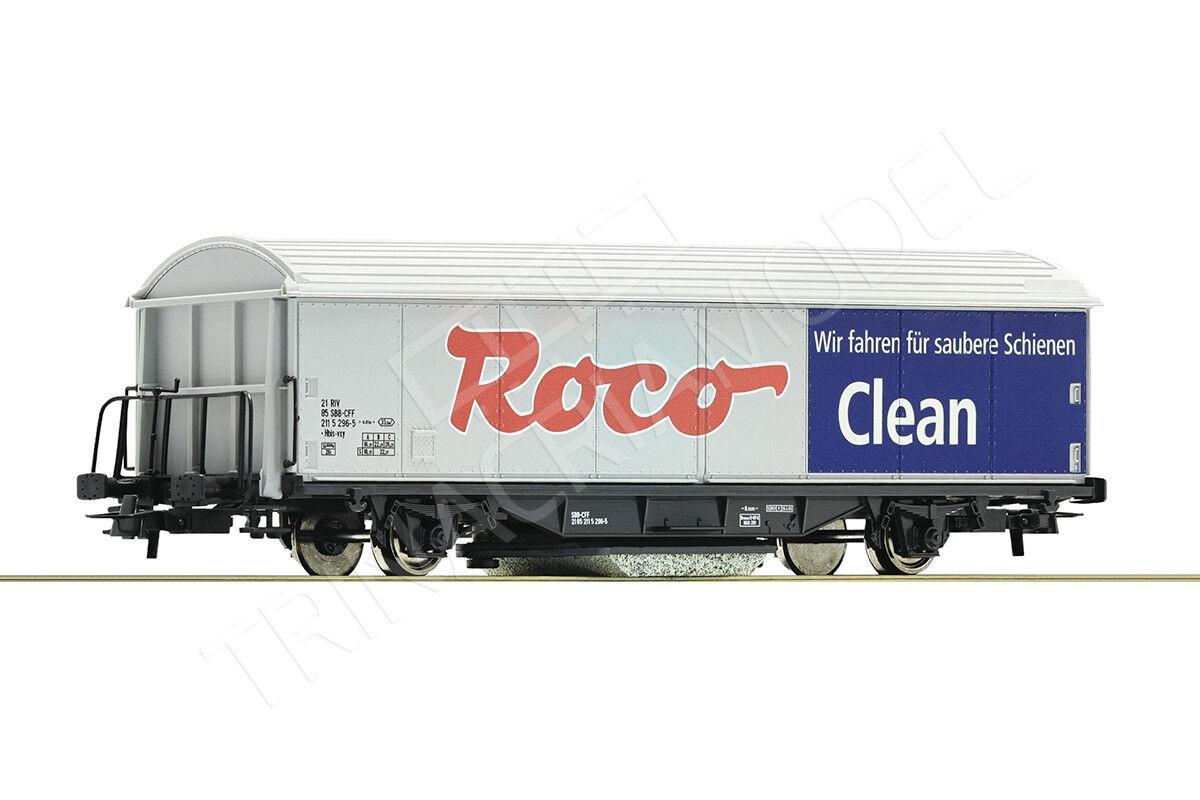 ROCO 46400 - Carro  Roco Clean  per la pulizia dei binari