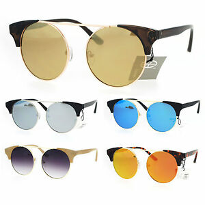fb17a7fcbcc75 Womens Hippie Round Circle Lens Cat Eye Fashion Retro Sunglasses