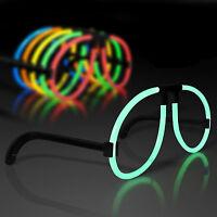 50pcs Diy Glow Sticks Glasses Frame Luminous Light Up Neon For Party Birthday