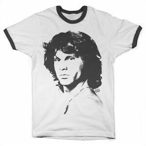 Officially-Licensed-Jim-Morrison-Portrait-Ringer-T-Shirt-S-XXL-Sizes