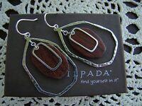Silpada Sterling Silver And Wood Earrings W3315