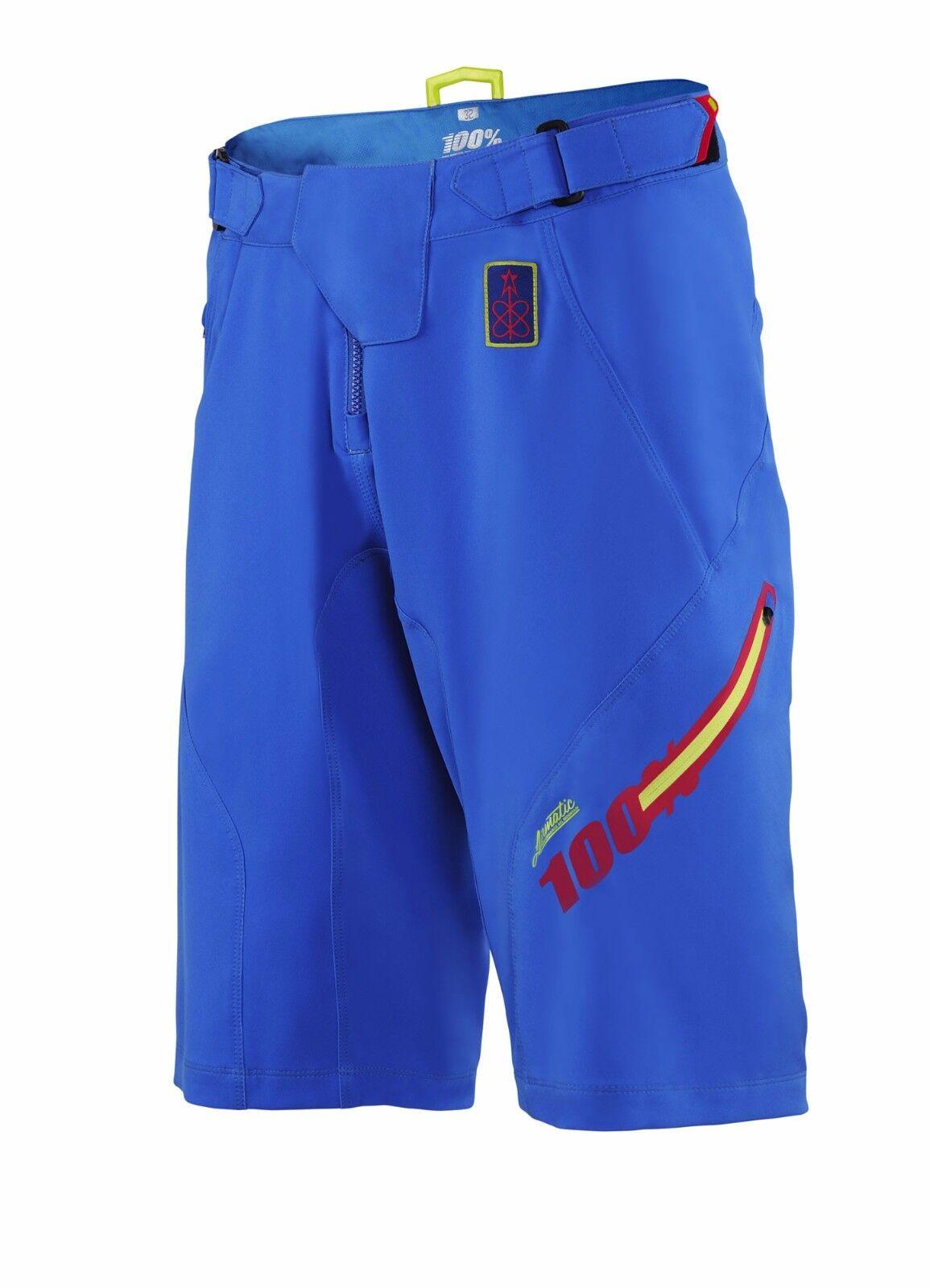 100% Airmatic tempi veloci Pantaloncini Larghi MOUNTAIN BIKE MTB Trail Enduro 100%