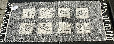 """Badteppich Gewebt """"blätter"""" Natur/grau 135 X 65 Cm Teppich Waschbar Verantwortlich Teppich Teppiche & Teppichböden"""