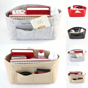 Felt Handbag Organizer Bag Purse Liner Bag Multi-Pocket Insert Tote Women
