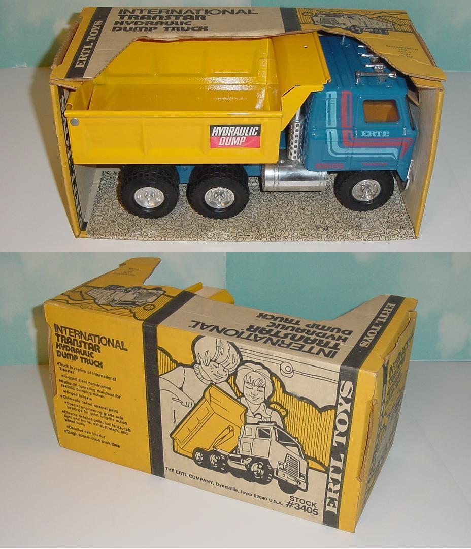 1 16 Vintage Ertl International Transtar Hydraulic Dump Truck W Box  (4)