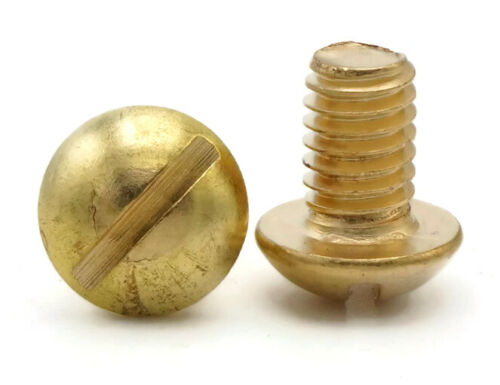 """Select Length /& Qty 1//4/""""-20Brass Slotted Round Head Machine Screws"""