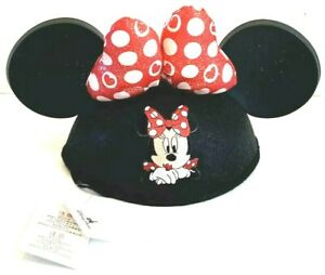 Disney Parks Minnie Mouse Bow Hearts Ear Hat Valentine Sparkle Glitter NWT